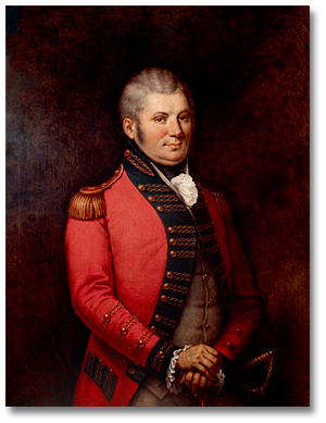 Colonel John Graves Simcoe, ca. 1881, Lieutenant Governor of Upper Canada, 1791-96. Portrait by George Theodore Berthon. Government of Ontario Art Collection, 694156.