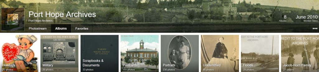 Port Hope Archives has posted more than 800 photos on Flickr.