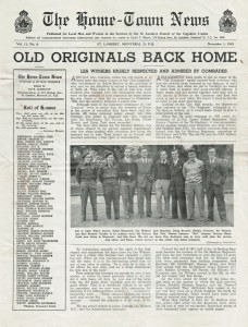 Front page of The Home-Town News, St. Lambert, Quebec, Vol 11, No 8, November 1, 1945.
